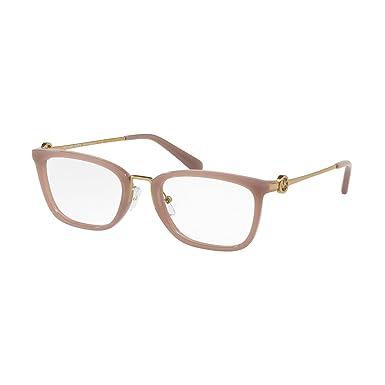 0e84e9eddff Michael Kors MK4054 Captiva Glasses in Milky Pink MK4054 3320 52   Amazon.co.uk  Clothing