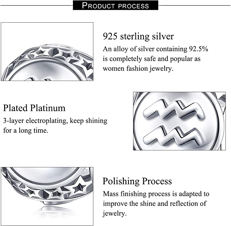 Sterling Silver Reflections Sept Elements Birth month Bead Charm