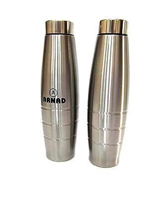 a74f463f0d2b75 Arnad Breeze Stainless Steel Water Bottle (Set of 2) - (650ml ...