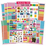Mirida Planner Stickers - 1700 Productivity Mini Icons for Adults Calendar - Work, Daily to Do, Budget, Family, Holidays, Journaling - Variety Pack with Monthly Tabs