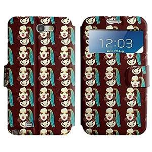LEOCASE polluelo de la roca Funda Carcasa Cuero Tapa Case Para Samsung Galaxy Note 2 N7100 No.1004155