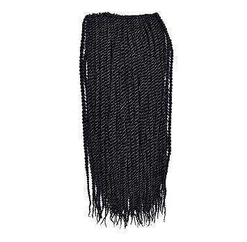 "XY-QXZB Pelucas africanas negro teñido crochet manejar crochet pelo 16 ""hermana cerradura"