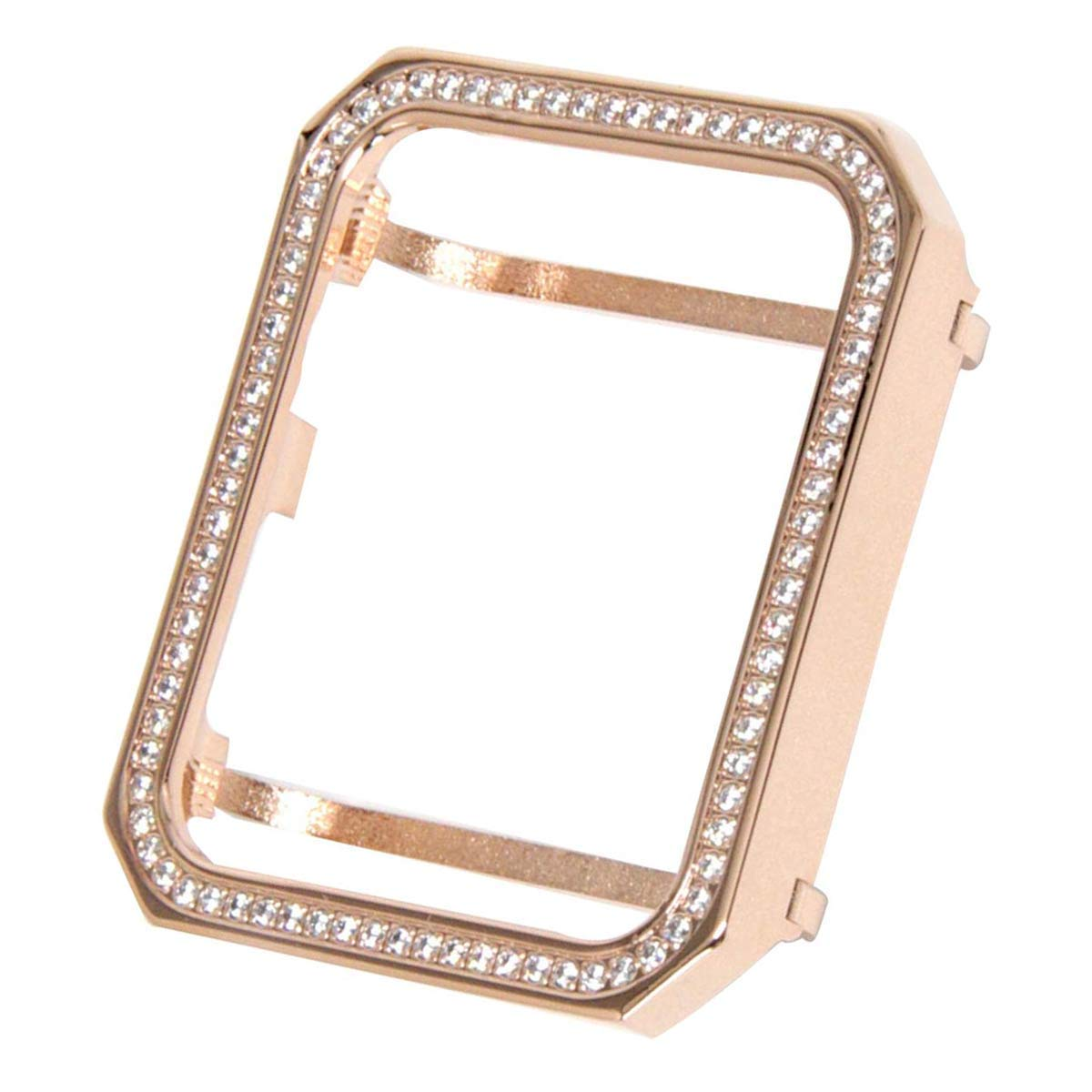 Hemobllo Smart Watch Face Case with Bling Crystal Diamonds Plate Case Cover Protective Protector Case Bumper for Apple Watch 42mm (Rose Gold) by Hemobllo