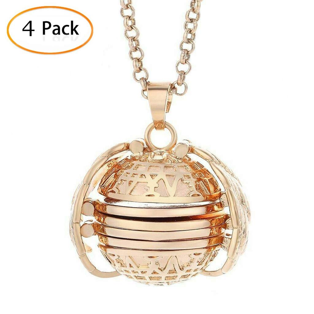 Necklace for Women Fashion Jewelry 4pcs Expanding Photo Locket Necklace Pendant Angel Wings Gift Jewelry Decoration