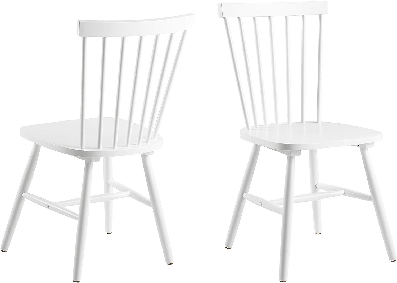 AC Design Furniture 63658 Silla de Comedor Susanne, Rubberwood, 2 ...