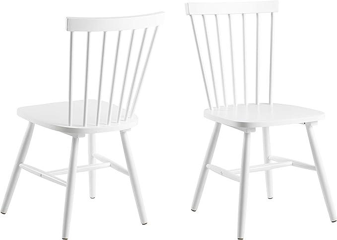 AC Design Furniture Stuhl Susanne, B: 48,5 x T:48 x H: 86 cm, Rubberwood, Weiss