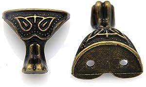 8 PCs Vintage Retro Antique Bronze Legs & Feet for Decorating Wooden Box Jewelry Box Chest