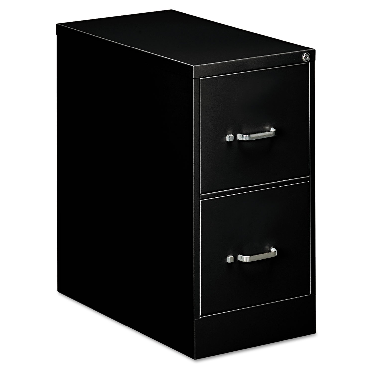 OIF 21109 Two-Drawer Economy Vertical File, 15w x 26-1/2d x 29h, Black