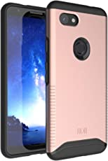 Google Pixel 3a (2019) Case, TUDIA [MERGE Series] Heavy Duty EXTREME Dual Layer Slim Precise Cutouts Phone Case For Google Pixel 3a (2019) [NOT Compatible with Pixel 3a XL Version] (Rose Gold)
