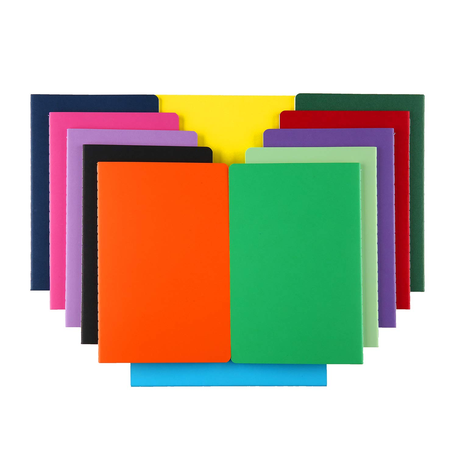XYark 12 PCS Colorful Notebook Journals Bulk, Lined Paper, College Ruled, 60 Pages, 5.5''x8.3'', A5 Size, Travel Journal Set for Travelers, Students and Office, Writing Diary Subject Notebooks Planner by XYark