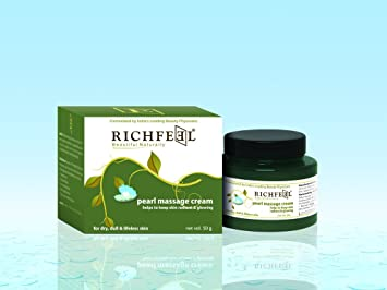 Amazon com : Richfeel Pearl Massage Cream - 100gm : Beauty