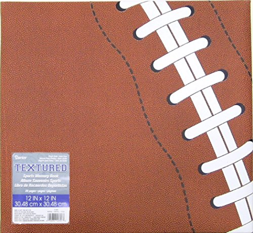 (Darice 12-5006 Football Themed Scrapbook, 12 by 12-Inch)