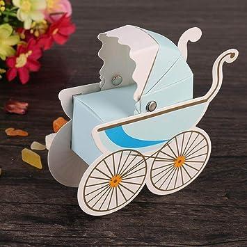 20PCS Caja de Dulces Cajas Carrito de Bebé Coche de Regalo del Caramelo de la Ducha