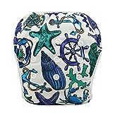 OHBABYKA Baby Swim Diaper Adjustable Unisex Reusable Washable Swim Pants (YK36)