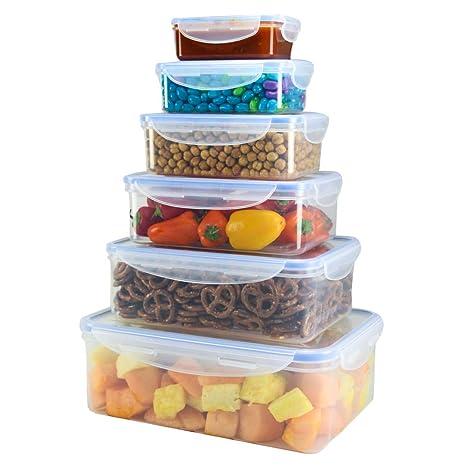Amazon.com: Contenedores de plástico para almacenamiento de ...