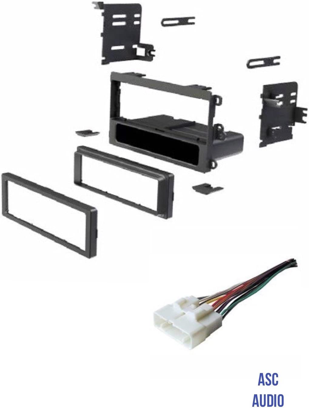 1998-2000 Isuzu Amigo 1998 1999 2000 2001 2002 2003 2004 Isuzu Rodeo ASC Car Stereo Install Dash Kit and Wire Harness to Install an Aftermarket Single Din Radio for some 1998-2002 Honda Passport