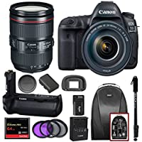 Canon EOS 5D Mark IV EF 24-105mm f/4L IS II USM Lens & Battery Grip BG-E20 with Kit