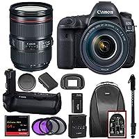 Canon EOS 5D Mark IV EF 24-105mm f/4L IS II USM Lens & Battery Grip BG-E20 with Kit
