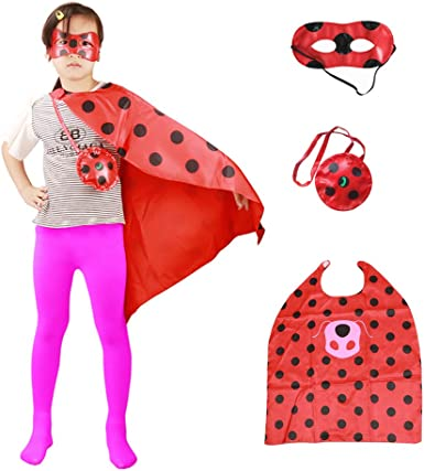 "39/"" Child Pink Superhero Cape /& Mask Costume Set ~ HALLOWEEN KIDS COSTUME PARTY"