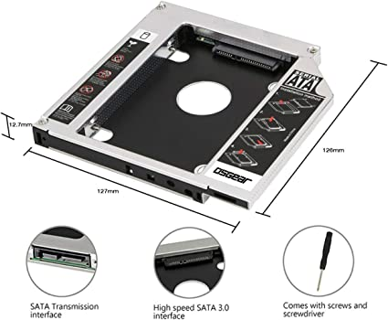 OSST 2nd Caddy 12,7 mm caja para Apple iMac Mini A1283 A1347 A1311 ...