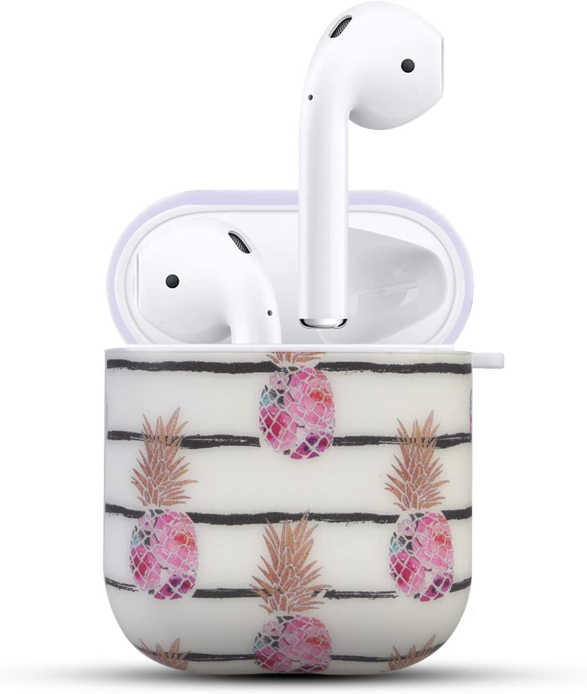 Airpods Skin HIDAHE Airpod Cases Apple Airpod Case Golden Pineapple Cute Luxury Hard Designer Protective Airpods Case for Girls Kids Compatible with Apple AirPods Charging Case 2/&1