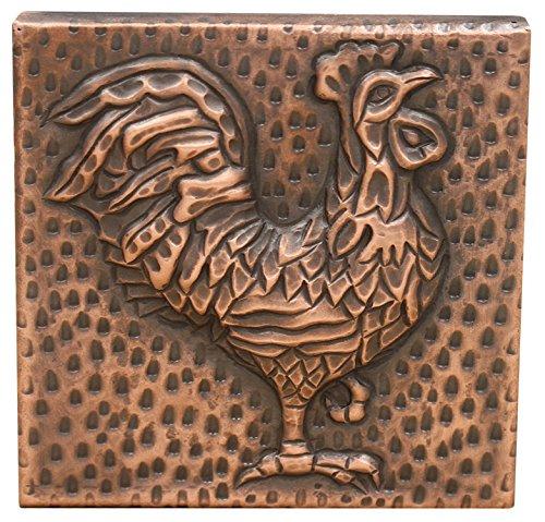 SINDA Decorative Copper Tile for Kitchen and Bathroom 4 x 4 inches (Copper-46)