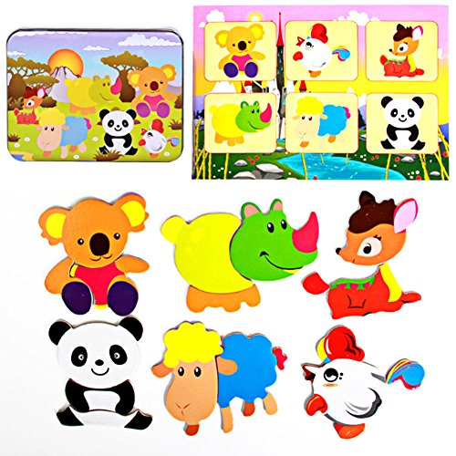 Zoo Ranger Costume (Children Kids Box Wooden Magnetic Jigsaw Puzzle Intellectual Educational Toys (Zoo))