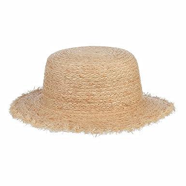 4a4ae6da Sun Hats for Women, Solid Fringe Wide Brim Raffia Straw Hats Beach ...