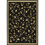 Safavieh Lyndhurst Collection LNH220A Traditional Floral Black Area Rug (8′ x 11′) For Sale