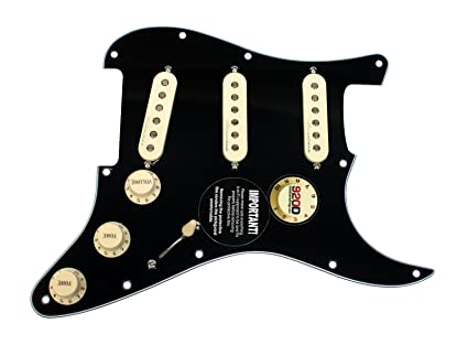 Fender Vintage Noiseless Stratocaster Pickups Set Amazon Com >> Fender Jeff Beck Hot Noiseless Loaded Pickguard Black Aged White