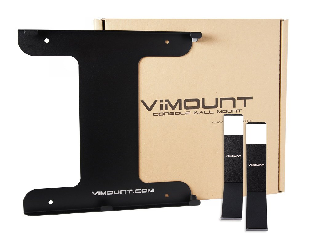 ViMount Playstation 4 PRO + 2pcs Controller Wall Mount PS4 Black Metal Holder Worldwide Shipping by ViMount