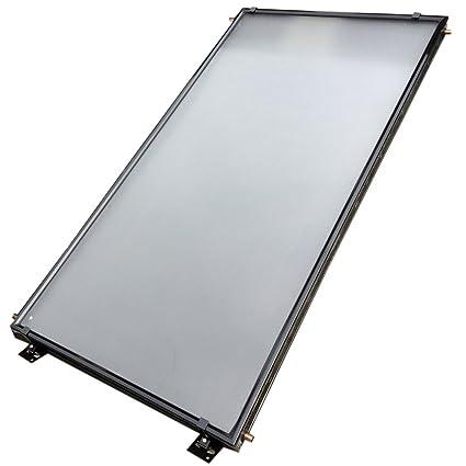 blueclean calentador de agua solar panel negro revestimiento de cromo marco de aluminio negro