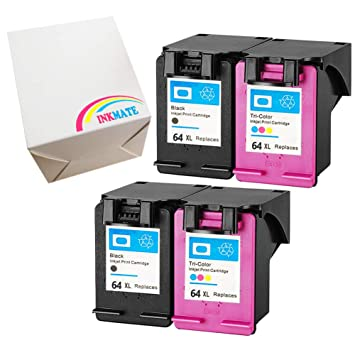 Amazoncom Inkmate 4 Pack Replacement For Hp 64xl High Yield Ink