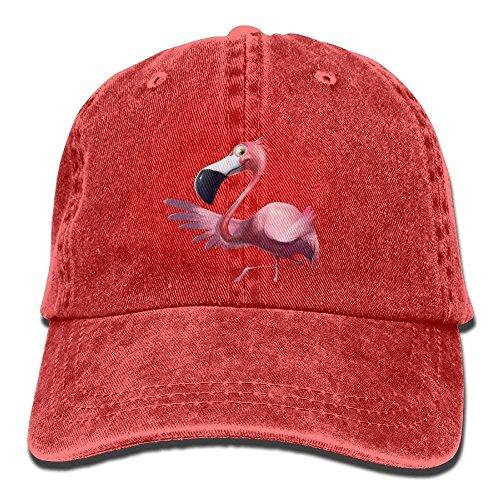 Yuerb Gorras béisbol F£õ£î£î£ù¡¡Pink Flamingos Denim Hat Adjustable Female Fitted Baseball Caps