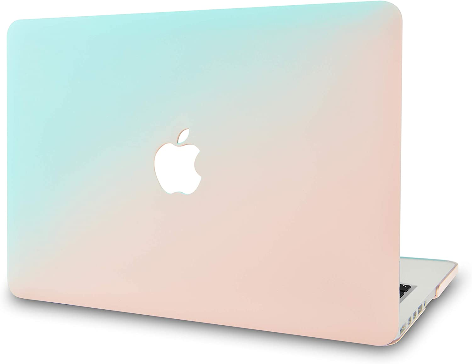 """KECC Laptop Case for MacBook Pro 13"""" (2020/2019/2018/2017/2016) Plastic Hard Shell Cover A2289/A2251/A2159/A1989/A1706/A1708 Touch Bar (Blue Green)"""