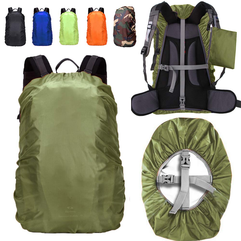 ZM-SPORTS 15-85L Upgraded Waterproof Backpack Rain Cover,with Vertical Adjustable Fixed Strap Avoid to Falling,Gift with Portable Storage Pack by ZM-SPORTS