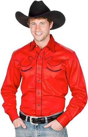 Sunrise Outlet Mens 100% Cotton Retro Western Cowboy Shirt: Amazon.es: Ropa y accesorios