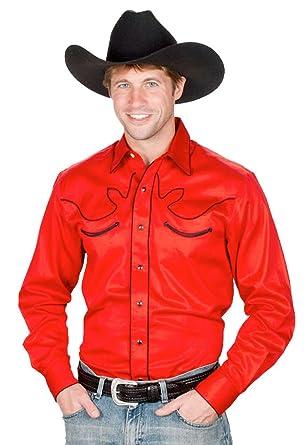 219bc870 Sunrise Outlet Men's 100% Cotton Retro Western Cowboy Shirt at Amazon Men's  Clothing store: