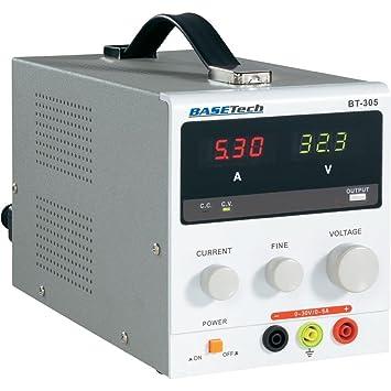 Basetech BT-305 Adjustable Linear Power Supply, 0-30Vdc, 0-5A