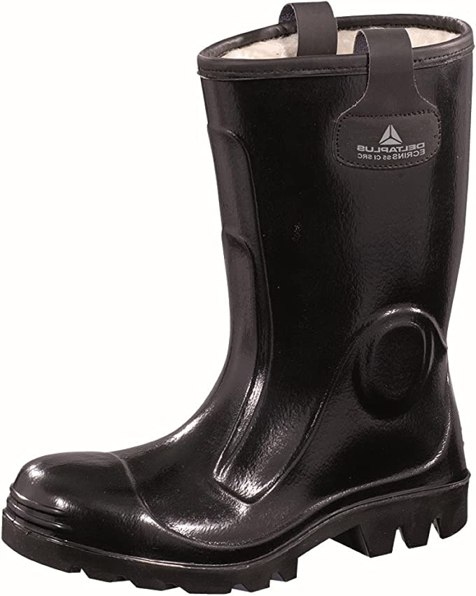 Panoply Work Wear Ecrins Pvc Black Safety Wellingtons With Steel Toe Caps  And 65 UK   Amazoncom