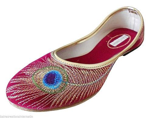 Kalra Creations - Mocasines de Terciopelo para mujer: Amazon.es: Zapatos y complementos
