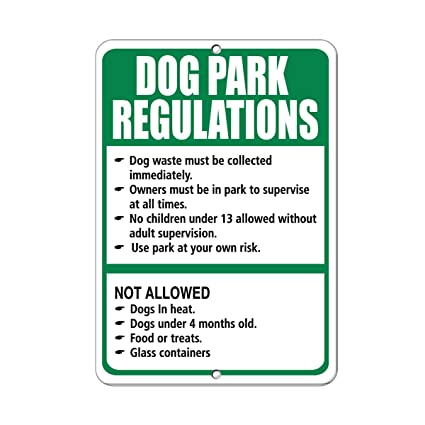 Amazon com: Dog Park Rules No Dogs Without People No People Without
