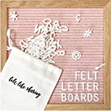 Kyпить Light Pink Felt Letter Board 10x10 Inches. Changeable Letter Boards Include 300 White Plastic Letters & Oak Frame. на Amazon.com
