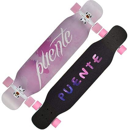 FTYUC Tabla de Skate Tabla de Skateboard Longboard patineta de Cuatro Ruedas para Adultos, niños