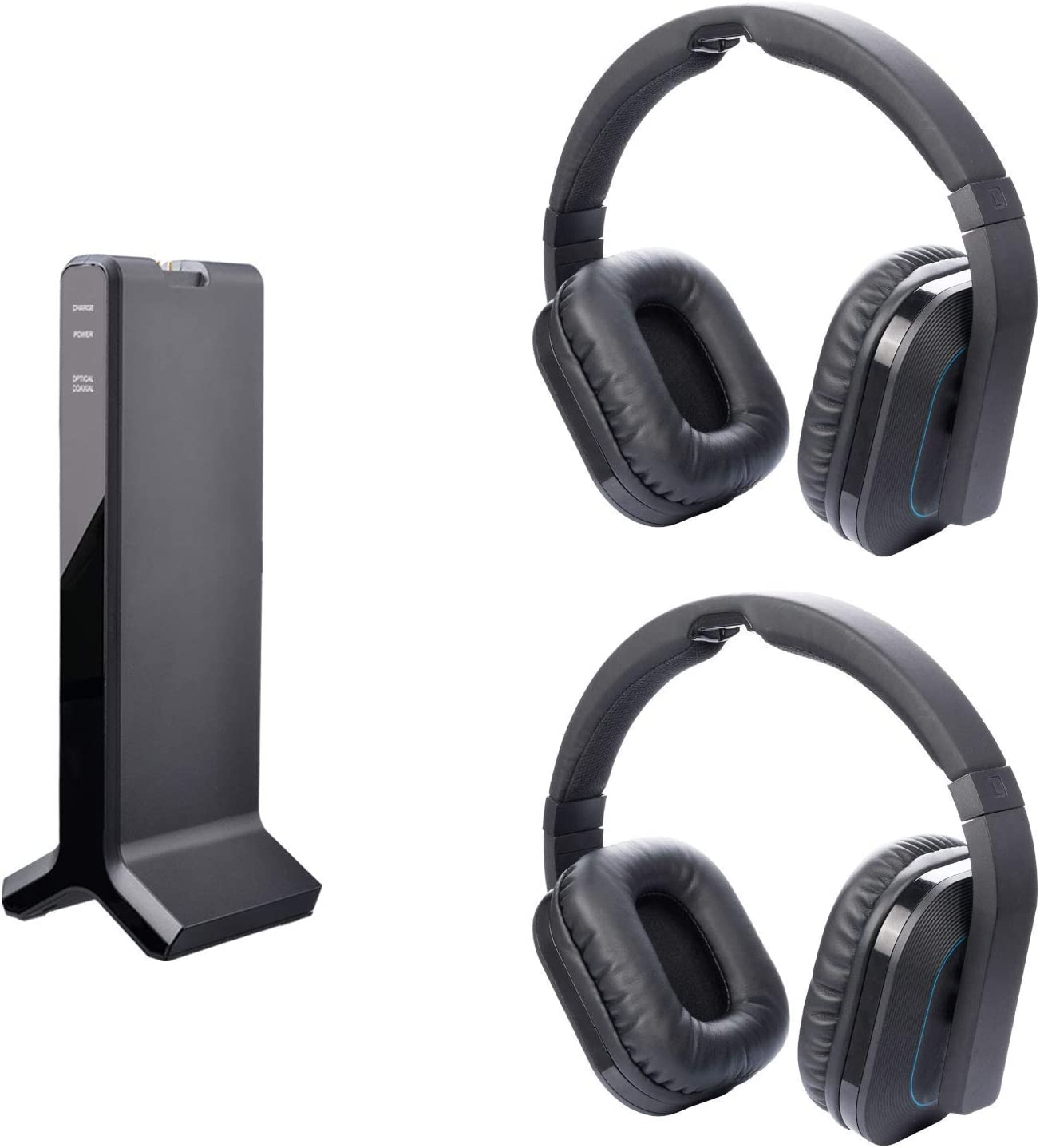 Digital 2.4G TV Headphones for Avantree HT280 Dual Link. Share TV Videos with Family or Friends, No Disturb to Family's Rest or Working, High Volume Headset Ideal for Seniors & Hearing Impaired