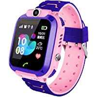 linyingdian Kids Smartwatch, Girl IP67 Smart Watch, LBS, Call, Voice Chat, SOS, Class Mode, Camera, Games, Gift voor…