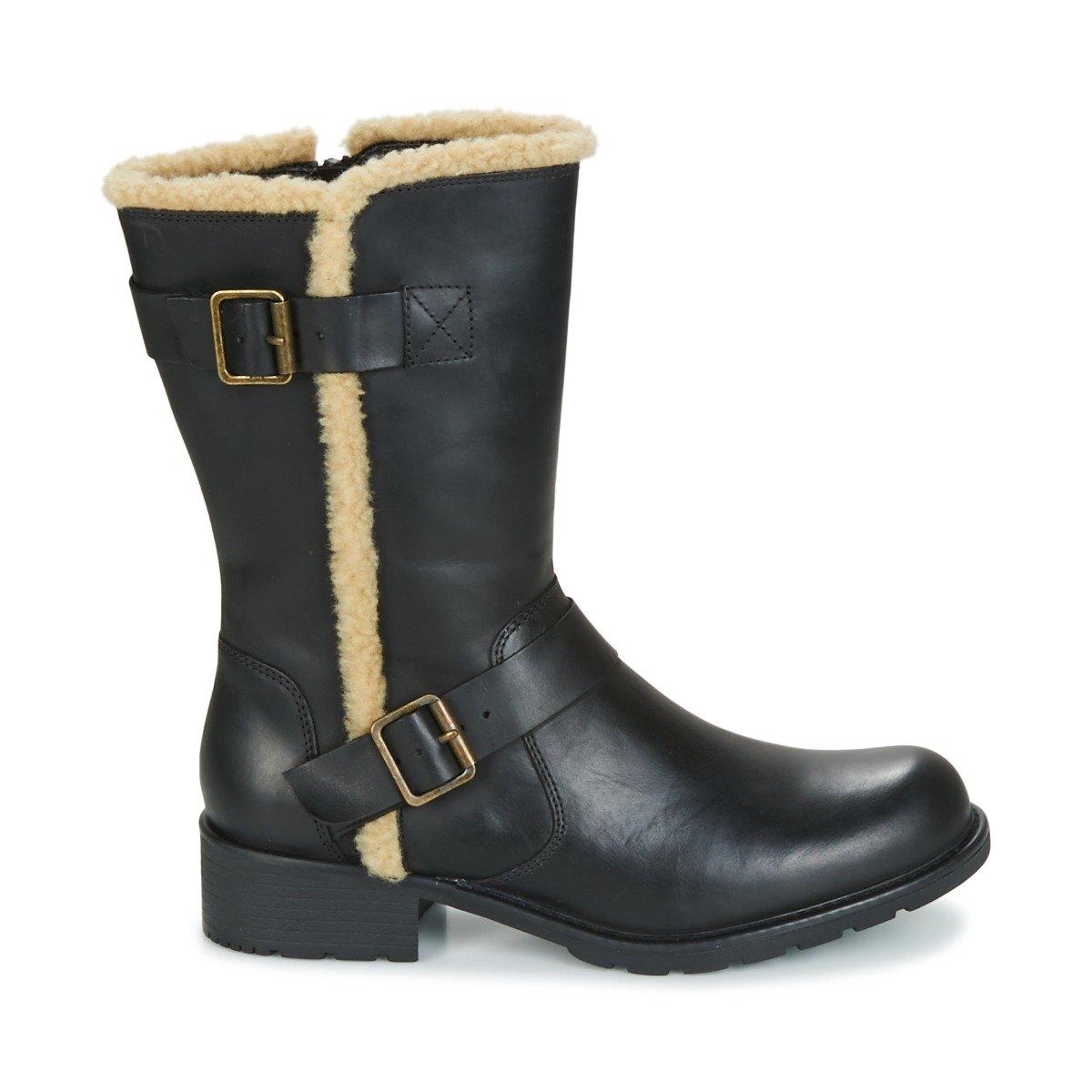 6 WideAmazon Leather Clarks Orinoco Black Womens 5 Boots Us Art ZuPikTOX