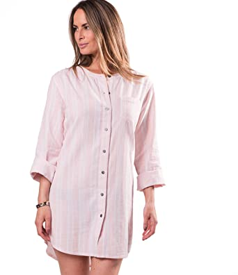670adf6fab Naked Womens Essential Cotton Button-up Sleeping Shirt at Amazon ...
