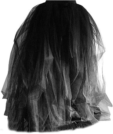 Falda larga de varias capas, de tul, para mujer, para noche ...