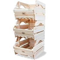 HABAU - Cajas de almacenaje para apilar (Madera